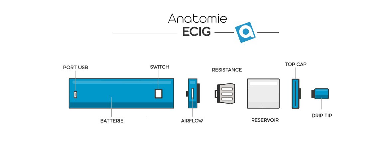 cigarette electronique anatomie